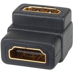 HDMI 19F/F Adapter Right Angle Type